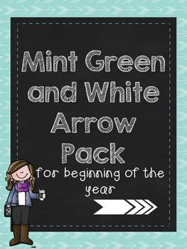 Mint Green and White Arrow Back to School Teacher Pack