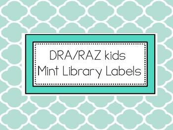 Mint Library Labels