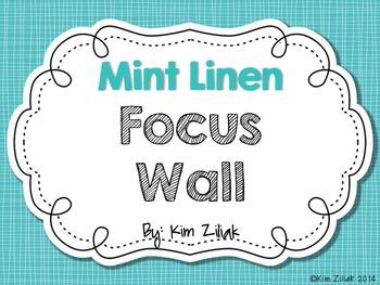 Mint Linen Focus Wall {White}