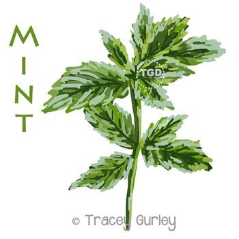 Mint Painting - mint clip art, mint printable Printable Tr