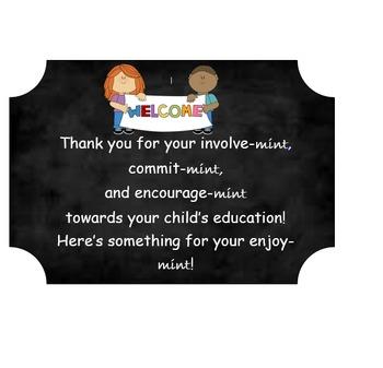 Mint Parent Teacher Conference Sign