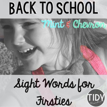 Mint & Pink Chevron Sight Words/Assessment for Firsties!