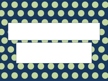 Mint Polka Dots On A Navy Background PowerPoint Template