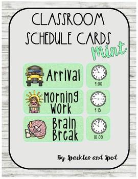 Mint Schedule Cards