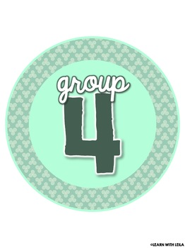 Mint Decor Table Numbers