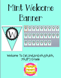 Mint Welcome Banner