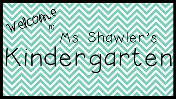 Mint Welcome Sign **Editable**