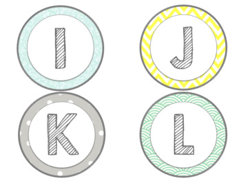 Mint, Yellow, and Gray Classroom Library Labels