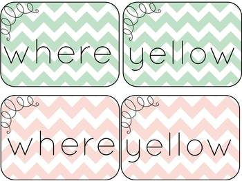 Mint and Blush Chevron Starter Kit for the Elementary Classroom