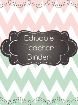 Mint and Blush Ultimate and Editable Teacher Binder