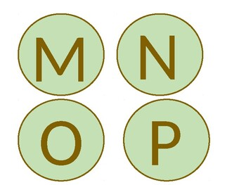 Mint and Brown Alphabet