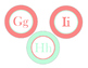 Mint and Coral Letter Bundle--Medium and Large