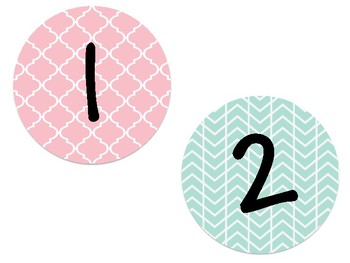 Mint and Coral Numbers 1-20