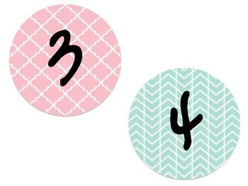 Mint and Coral Numbers 1-30