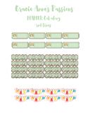 Mint and Gold Planner Stickers 2