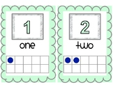 Teal, Grey, and Navy Number Line 1-20