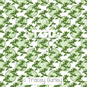 Mint and Lime on White digital paper Printable Tracey Gurley Designs