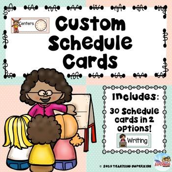 Mint and Peach Custom Schedule Cards