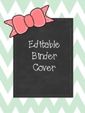 Mint and Pink Editable Binder Cover