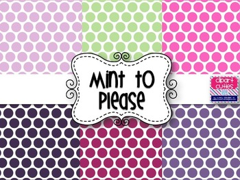 Mint to Please Digital Background Papers {Purples, Pinks, and Mint}