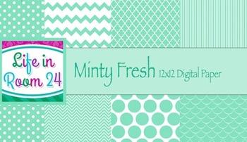 Minty Fresh (12x12 Digital Paper Pack)