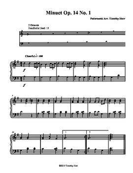 Minuet Op. 14 No.1 for Tone Chimes/ Choir Chimes
