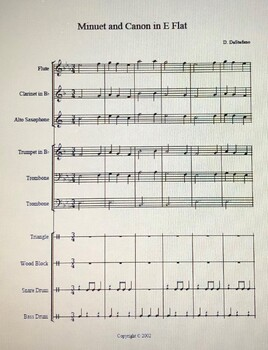 Minuet and Canon in E flat - original composition for beginning band