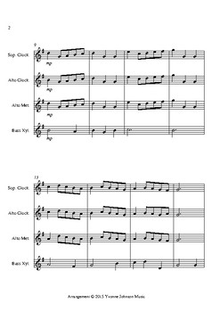 Minuet in G For Orff Ensemble
