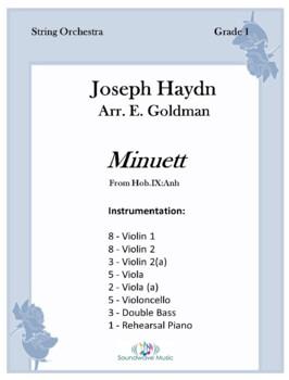 Minuett (From Hob.IX:Anh)