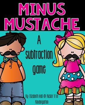 Minus Mustache {A Subtraction Game}