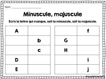 Minuscules et majuscules