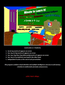 Minute 2 Learn it! (Division Code Words)