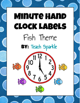 Minute Hand Clock Labels (Fish Theme)