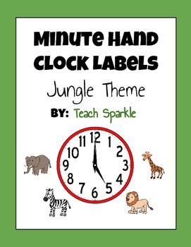 Minute Hand Clock Labels (Jungle Theme)