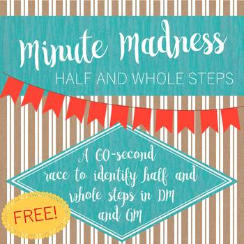 Minute Madness Half and Whole Steps 1st Edition