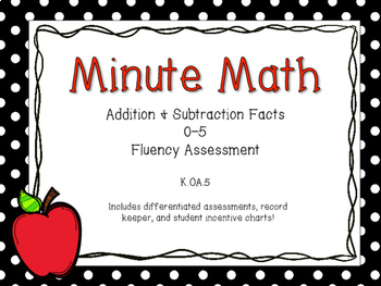 Minute Math - Addition and Subtraction Fluency Assessment