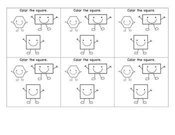 Minute Math Assessments: 2D shapes