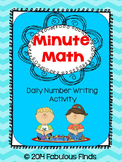 Minute Math- Daily Number Writing