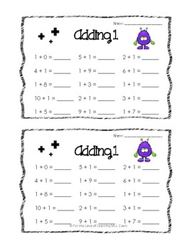 Minute Math Monsters: Addition