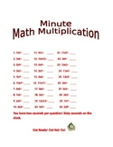 Minute Math Multiplication