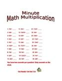 Minute Math Multiplication