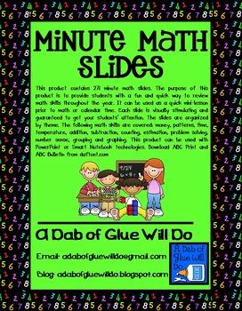 Daily Minute Math Slides