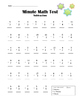5-pack Minute Math Subtraction Worksheets/Tests