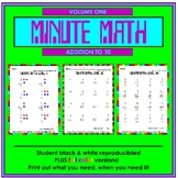 Minute Math Volume 1 (addition to 10)
