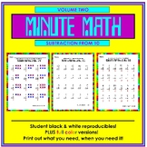 Minute Math Volume 2 (Subtraction from 10 and less)