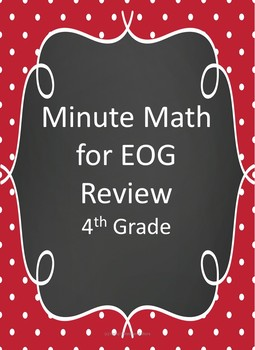 Minute Math for EOG Review- 4th Grade (Week 1)