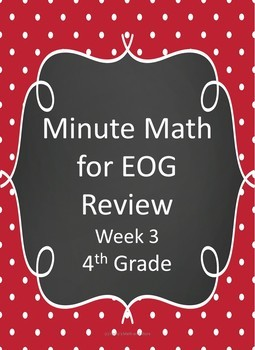 Minute Math for EOG Review- 4th Grade (Week 3)