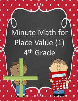 Minute Math for Place Value (1)- 4th Grade