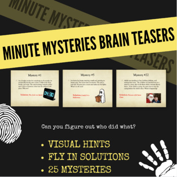 Minute Mysteries - PowerPoint