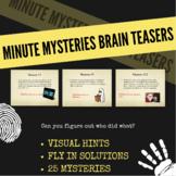 Minute Mysteries - PowerPoint (Brain Teasers)